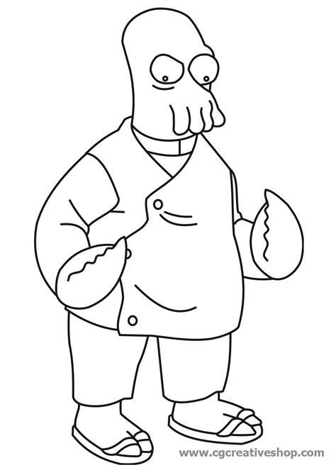 futurama coloring pages az coloring pages