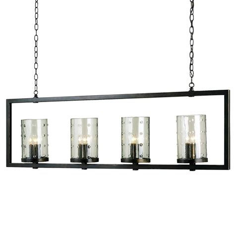 Rectangular Island Light Glacerie Rectangular Modern 12 Light Island Chandelier Kathy Kuo Home