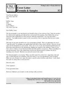 Cover Letter Free by Exle Of A Application Letter Pdf Cover Letter