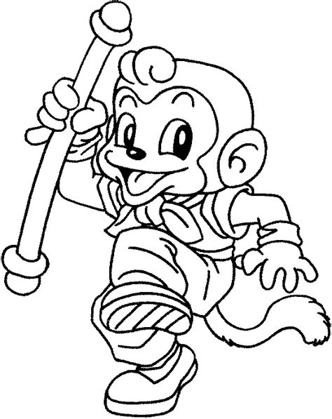 chinese monkey coloring pages pin zodiac monkey colouring pages on pinterest