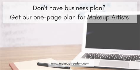 makeup artist business plan template mugeek vidalondon