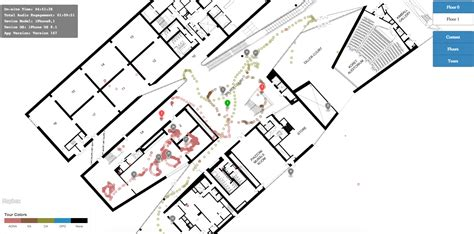 Rendered Floor Plans the de young museum app by guidekick as a model for
