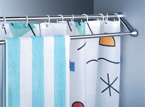 installing shower curtain rod install curved double shower curtain rod the homy design