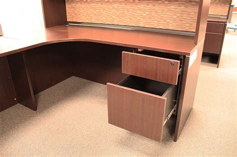 l shaped desk with hutch used office source l shaped desk with hutch ofw pittsburgh