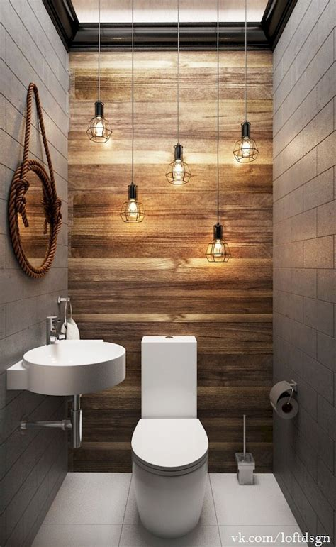 cool farmhouse powder room design ideas  rustic