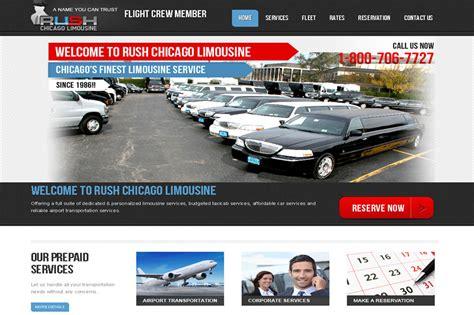 chicago limousine web design developement limo service