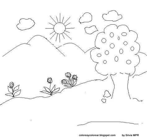 imagenes de paisajes sencillos para dibujar paisajes para colorear faciles uwuwupiko