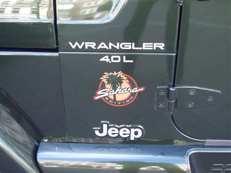 sahara jeep logo file jeep wrangler 4 0l sahara tj 1997 2006 badge