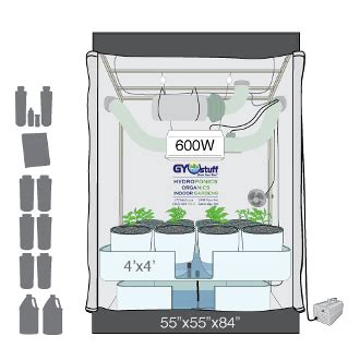 grow tent diagram gyo 4x4 ebb flow deluxe package