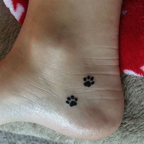 small dog paw print tattoo just got this small paw prints on the inside my