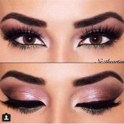 pink brown eyeshadow eye makeup for brown makeup