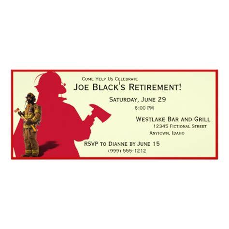 Fireman Custom Retirement Party Invitations Zazzle Firefighter Invitation Templates