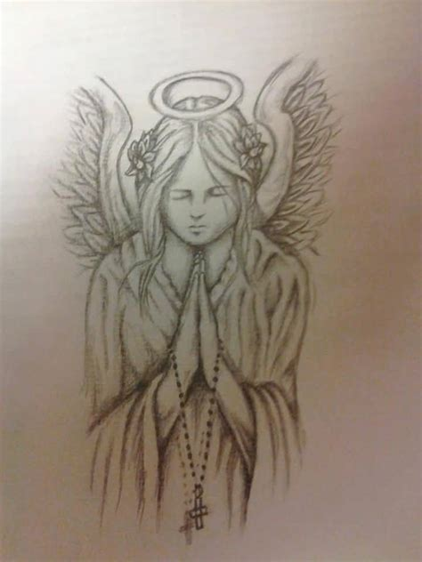25 impressive praying angel tattoo designs and ideas
