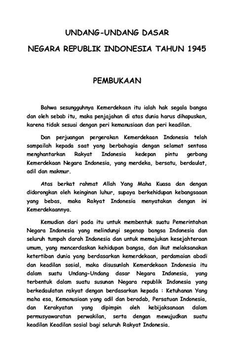 teks pembukaan uud 1945 teks upacara