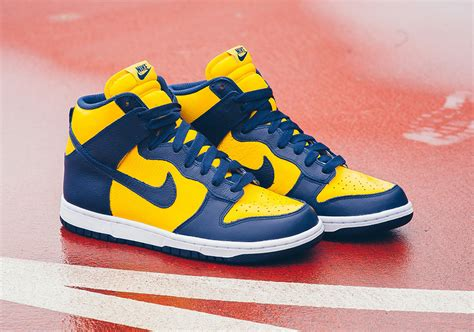 nike dunk high new year nike dunk high quot michigan quot available sneakernews