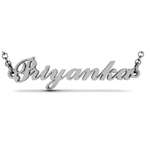 celebrity personalized jewelry get sexy and chic with priyanka personalized celebrity