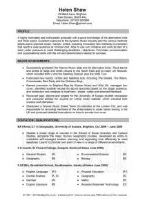 Example Resume Template Layout by Examples Of Good Cv Templates Creative Writing Ideas 8th