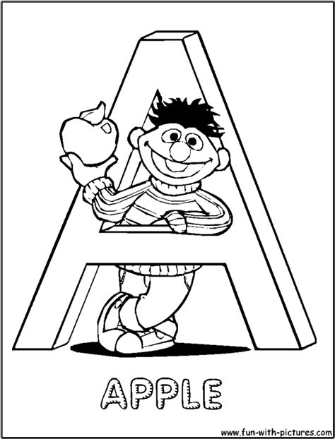 sesame street coloring pages alphabet coloring home