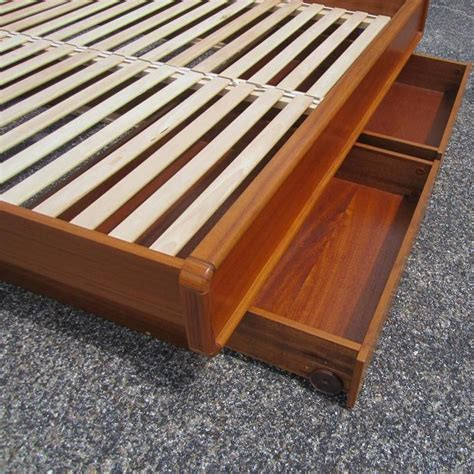teak platform bed vintage mid century danish teak platform bed with