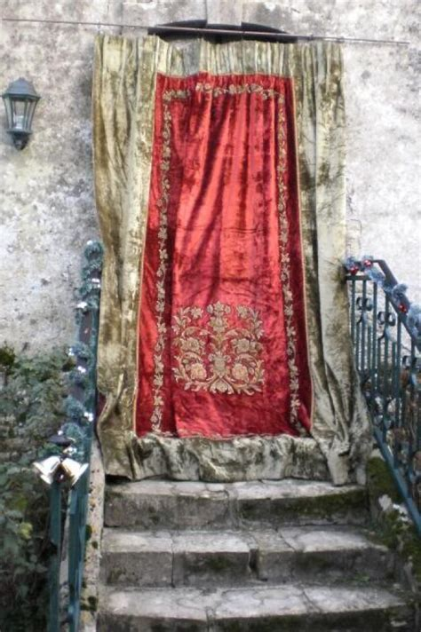 Antique Velvet Curtains 17 Best Images About Antique Drapes Portieres On Pinterest Grey Curtains Entrance Halls And