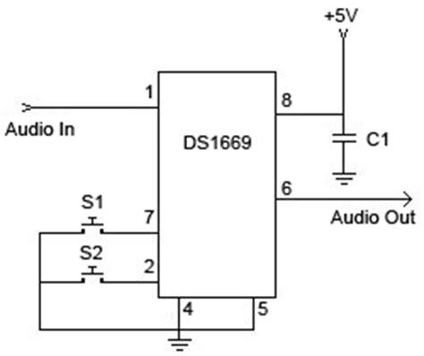 digital variable resistor ic digital potentiometer electronic circuit