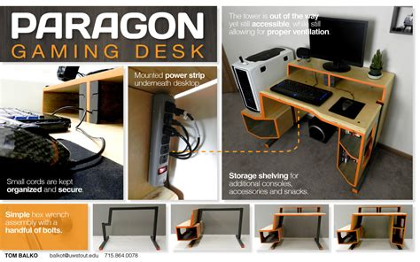 vikter gaming desk plans paragon gaming desk by tom balko at coroflot com