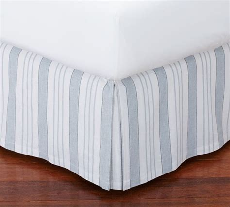 Black And White Striped Bed Skirt by Everdell Stripe Bed Skirt Traditional Bedskirts