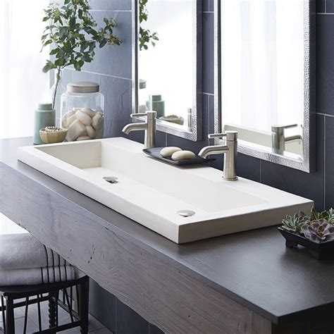 trough bathroom sink trough 4819 bathroom sink in nativestone great