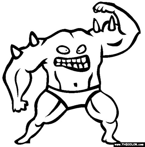 coloring page of monster monsters online coloring pages page 1
