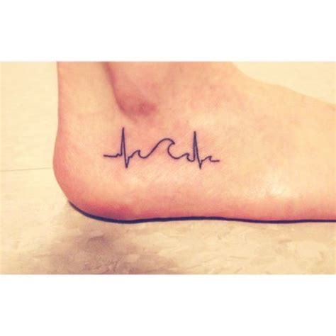 wave heartbeat tattoo a wave in a heartbeat to represent the ups and