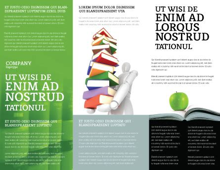 book and apple brochure template design and layout
