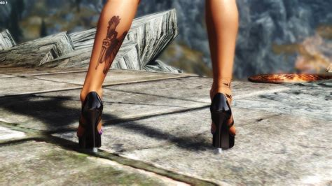 skyrim high heels hdt charming high heels cbbe hdt converted to nioverride heels