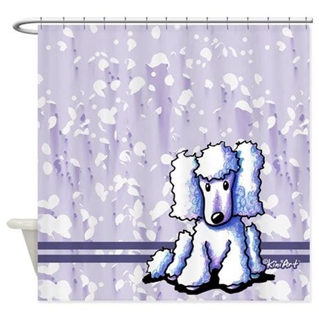 poodle shower curtain white poodle shower curtain by kiniart