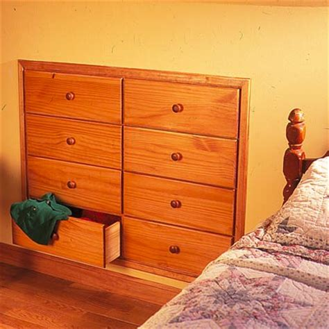 knee wall dresser 37 easy ways to add storage to every