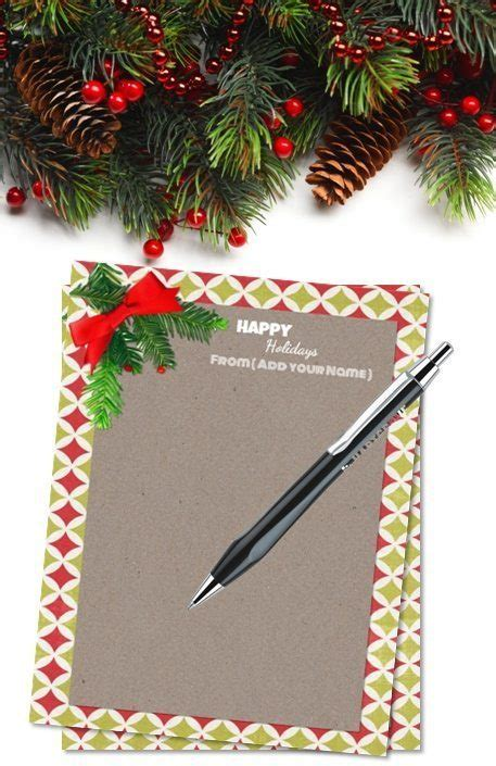 personalized christmas stationery