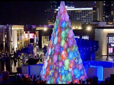 christmas tree  mapping interactive ipad dubai uae youtube