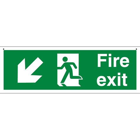 Exit A suspended exit signs from key signs uk