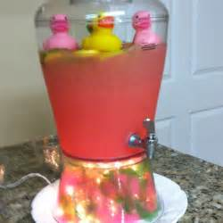 pink lemonade punch for baby shower baby shower