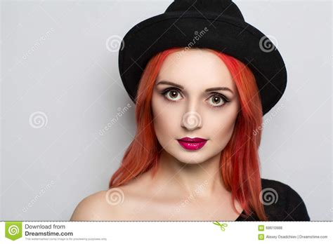 luxury hair products babe styling studios woman with black hat stock photo image of female elegant