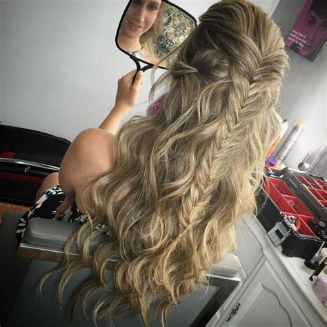 Homecoming Hairstyles Half Up Half by 1000 Ideas About Prom Hairstyles On Prom