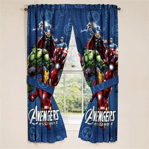 avengers bedroom accessories marvel avengers assemble window panels curtains drapes
