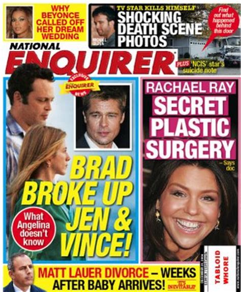 This Weeks National Enquirer Attempts by Tabloid This Week In The National Enquirer Brad