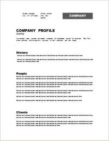 company profile template word pictures to pin on pinterest