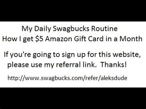 How Do I Get A Amazon Gift Card - my daily swagbucks routine how i get 5 amazon gift card