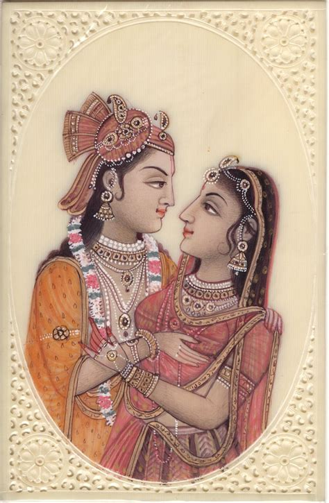Handmade Paintings Of Radha Krishna - radha krishna hindu handmade indian religious