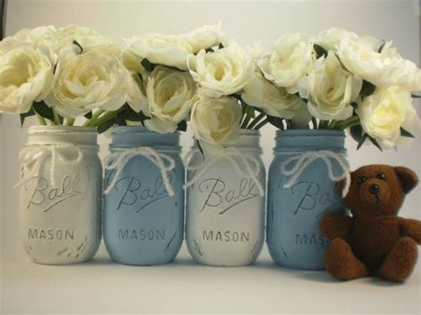 jar centerpieces for baby shower baby shower centerpiece jar centerpiece shabby chic jar