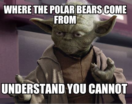 Where Do Memes Come From - meme creator where the polar bears come from understand