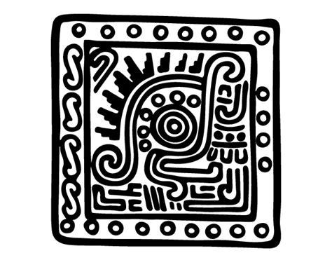 imagenes de figuras mayas para colorear dibujo de s 237 mbolo maya para colorear dibujos net