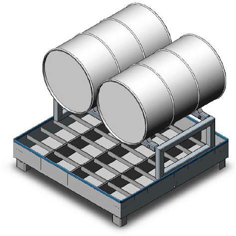 Drum Shelf by Handling Gear Dual Drum Rack Storage Unit Drum Rack