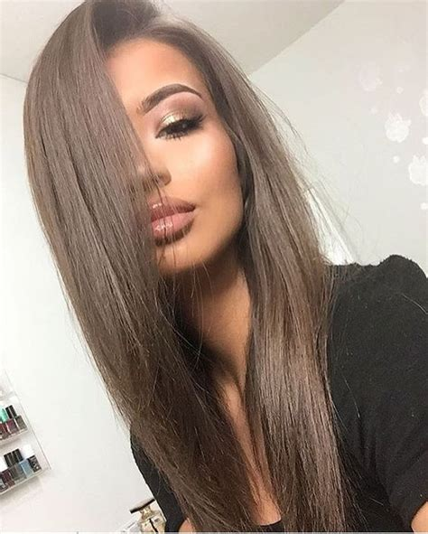 medium ash brown hair color over highlights 35 smoky and sophisticated ash brown hair color looks